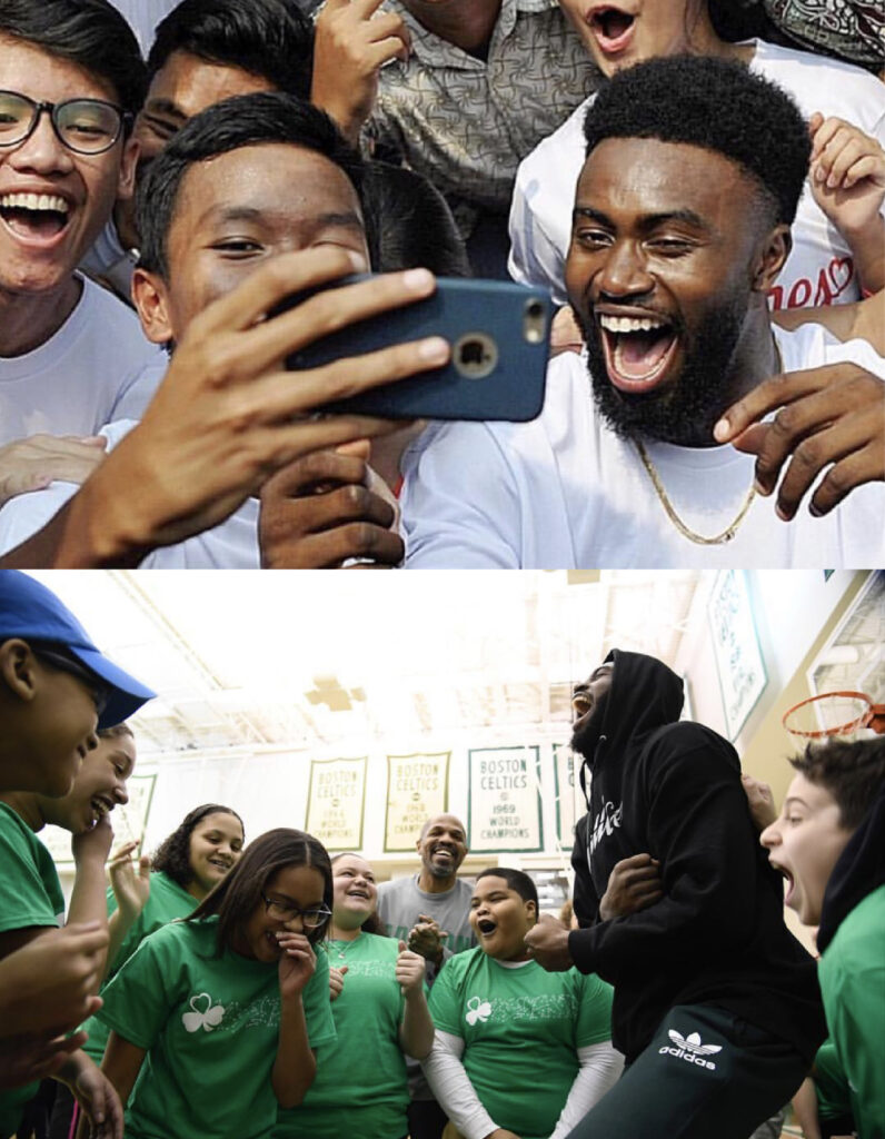 Jaylen Brown meeting the youth